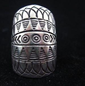 Fine Silver Rings THAI HANDMADE KAREN HILL TRIBE Kuchi Vintage OVAL Shaped R11
