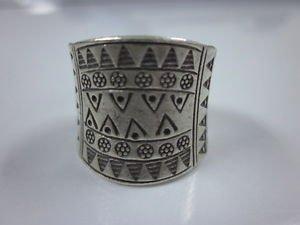 Hill tribe silver Rings thai karen handmade Kuchi Indian Triangle engraved R28