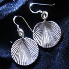 ER93 Solid silver Earrings Hill tribe Old Hmong Karen Ohrringe Argento ORECCHINI