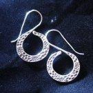 Fashion earrings Hill tribe Genuine silver thai karen tribal S Hammered ER128