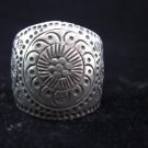 Fine Silver Rings THAILAND KAREN HILL TRIBE Daisy Buddha style Vintage handmade