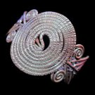 Fine Fashion Silver Bracelet Thai Cuff Hill Tribe Spirale Roll Style Armreif B28