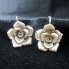 Fine Fashion Silver Earrings Ohrringe Rose Rosa Flower craft nature theme ER173