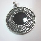 Fashion Jewelry Pendants Ciondolo Anhänger Pewter Biker Zodiac Round Circle PC01