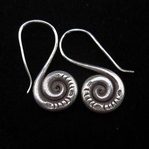 Fashion Silver Earrings Tribal BOHO Spirale S boucles d'oreilles Ohrringe E140