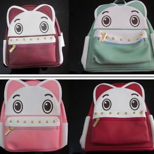 Fashion Womens Girl Backpacks & Bookbags ح��بة Geldbörse Cat Theme Thailand