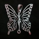 Fashion Pendant Ciondolo Anhänger PEWTER Metal Night butterfly Biker Hipster B14