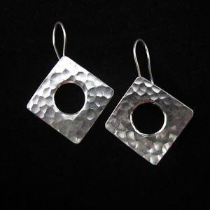Ohrringe Silber Schmuck Fashion Silver Earrings Quadrangle Thai Hill tribe ER144