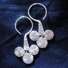 Thai Hill Tribe Earrings Fine Silver karen tribal Egyptian style E58