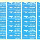Priority airmail sticker Stamp Envelope Shipping Labels Tags 32pcs sheet