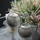 Thai Hill Tribe Earrings Pure Silver Ethnic Tribal Round podduang R510
