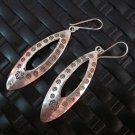 Fine Silver Earrings Hill Tribe Karen argento orecchini oorbellen long Oval Drop