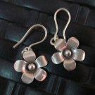 Fine Silver Earrings Hill Tribe Karen argento orecchini oorbellen Flower Petunia