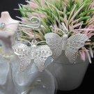 Thai Hill Tribe Earrings Pure Silver Ethnic Butterfly Dangle Hooks R506