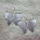 Thai Hill Tribe Earrings Fine Silver Twin Butterfly Lovely Hook CS13261