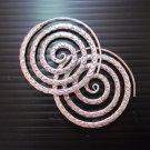 Fine Silver Earrings Karen Vintage Fashions Dangle Spiral Round Rough CS11125941