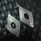 Thai Hill Tribe Earrings Fine Silver Vintage Precious Tribal Drop Dangle CS2124