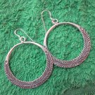 Thai Hill Tribe Earrings Fine Silver Fashions Dangle Engraved Rounds CS51259111