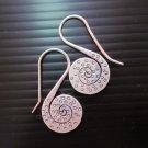Thai Hill Tribe Earrings Fine Silver Dangle Polka Dots Spiral CS111259403