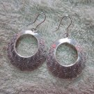 Thai Hill Tribe Earrings Fine Silver Hoop Olives Roman Styles CS2416051