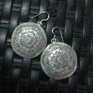 Thai Hill Tribe Earrings Fine Silver Vintage Precious Tribal Drop Dangle CS2123