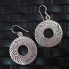 Thai Hill Tribe Earrings Fine Silver argento orecchini oorbellen Round DoNUT