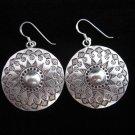 Thai Hill Tribe Earrings Fine Silver Gothic Circle Shield Fashion design