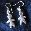 Fine Silver Earrings Ohrringe Schmuck Argento Lover Gemini Human Couple Wedding