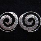 Thai Hill Tribe Earrings Fine Silver Argento ORECCHINI Spirale ohrringe ER38