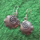 Thai Hill Tribe Earrings Fine Silver Fashion Drop Dangle Spiral Rounds CS124594