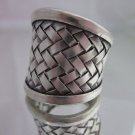 Fine Silver Rings Argento Anello Schmuck Welle Band By Leelaveera
