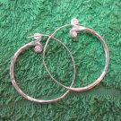 Fine Silver Earrings Hill Tribe Karen Fashion Drop Dangle Hoops Vintage CS124591