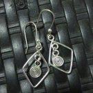 Thai Hill Tribe Earrings Fine Silver Ohrringe Fashion Drop Dangle CS1234