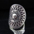 Fine Silver Rings Solid Hill tribe Thailand Karen Tribal Gothic Argento Anello