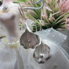 Thai Hill Tribe Earrings Pure Fine Silver Ethnic Orchid Pedal floral Flower R524