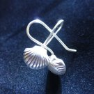 Fine Silver Earrings Ethno Argento Orecchini Dangle Shell Fashion Hooks