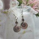 Thai Hill Tribe Earrings Pure Fine Silver Ethnic Little Cute Spiral R533
