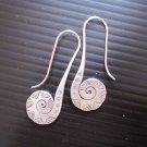 Fine Silver Earrings Karen Vintage Fashions Dangle Tribal Spiral Stick CS1312592
