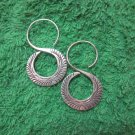 Fine Silver Earrings Hill Tribe Karen Fashions Dangle 8 Spiral Roll Handcrafted
