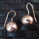 Fine Silver Earrings Hill Tribe Karen argento orecchini oorbellen Hammered balls