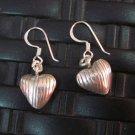 Fine Silver Earrings Hill Tribe Karen argento orecchini oorbellen Heart patterns