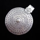 Fashion Pure Silver Pendants Vintage Artisan Jewelry Tribal Gothic Emblems P28