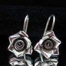 Thai Hill Tribe Earrings Fine Silver Dangle Schmuck Rosa Ohrringe Silber ER159