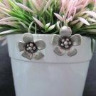 Thai Hill Tribe Earrings Pure Silver Ethnic Floral Lucky Flower Dating Gift R517