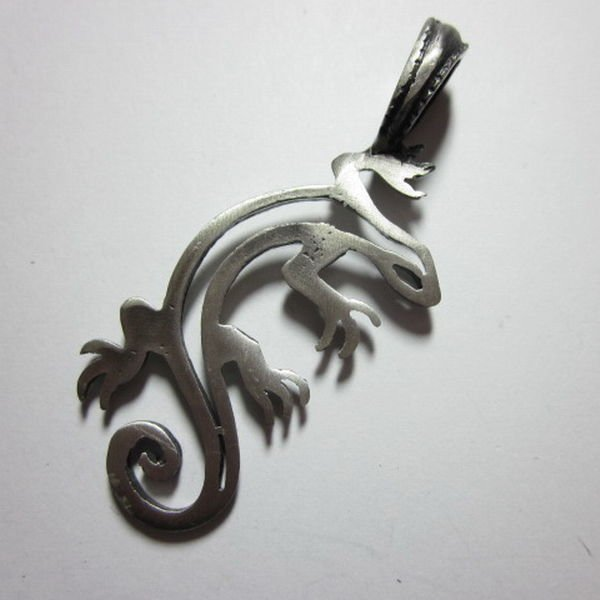 Fashion Men Jewelry Pendants Ciondolo Anhänger Pewter lizard gecko salamander