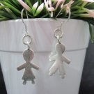 Thai Hill Tribe Earrings Pure Silver Ethnic Lovely Couple Date Kids R514