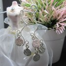 Thai Hill Tribe Earrings Pure Silver Ethnic Elegant Chandelier Party R515
