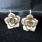 Thai Hill Tribe Earrings Fine Silver Rose Rosa Flower craft nature theme ER173