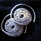 Thai Hill Tribe Earrings Fine Silver Handmade Solid spiral circle shape