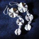 Hill Tribe Fine Silver Earrings Thai karen tribal triple circle Filigree ER129